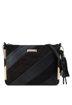 Diagonal Stripe Crossbody Bag