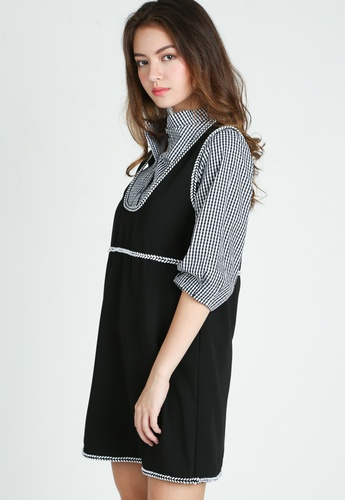 Moss Fashion black and white Grazyna Two Piece Dress MO819AA63CIMSG_1