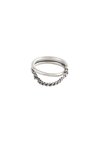 A-Excellence silver Premium S925 Sliver Geometric Ring 3982FACA85140DGS_1