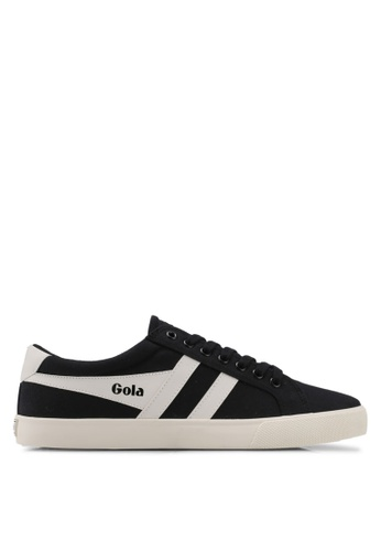 Gola black and white Varsity Sneakers DBD01SHAC24425GS_1