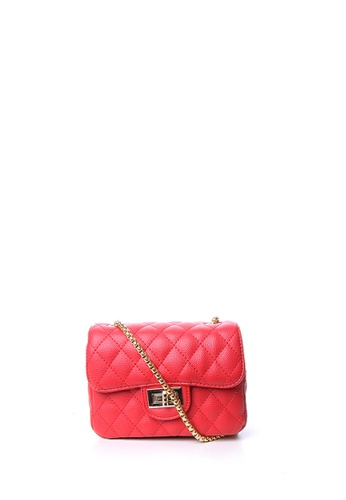 Dazz red Quilted Crossbody Bag - Red DA408AC72RRZMY_1
