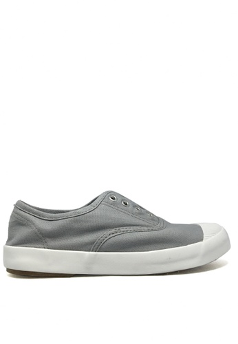 Twenty Eight Shoes grey Canvas Elastic Shoes TW446SH33ITEHK_1