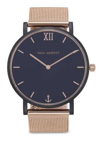 Paul Hewitt gold Sailor Line Black Sunray IP Watch 84DA2AC69439BEGS_1