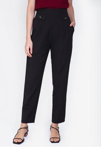 ZALORA WORK black High Waisted Pleated Tailored Pants 58363AA7658891GS_1