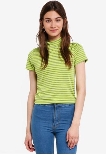 Factorie green Short Sleeve High Neck Top 5A147AAFB1E6C7GS_1