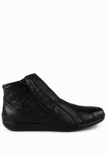 Gino Mariani black Elario 1 Leather Casual Shoes GI569SH94MTTID_1