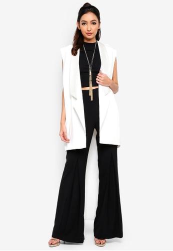 Alia B. white Circe Sleeveless Tuxedo Jacket DA172AA4C16DC6GS_1