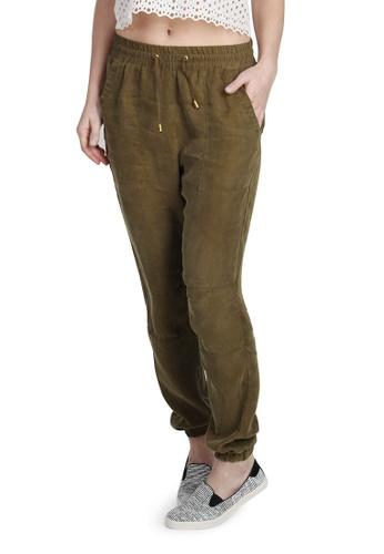 London Rag green Green Regular Fit  Cotton Pants B8DBBAA4F8868BGS_1