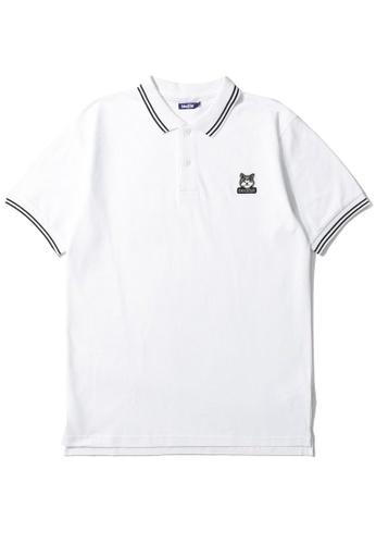BLOCKAIT white Akita Ken polo shirt 7CAA3AAAFB676EGS_1