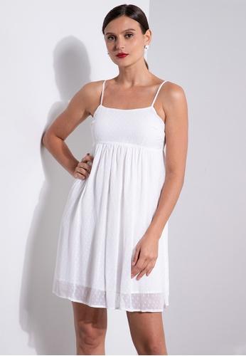 ZALORA OCCASION white Cami Babydoll Dress 4BF19AA4B47F81GS_1
