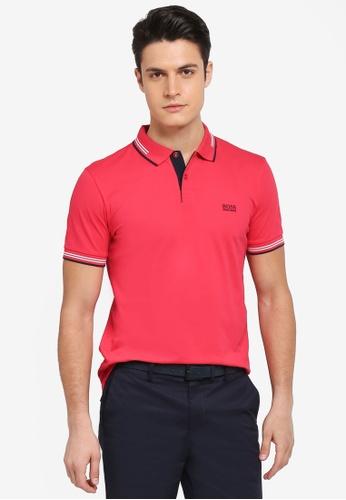 BOSS pink Paul Shirt - Boss Athleisure 7AABAAA129F3F3GS_1