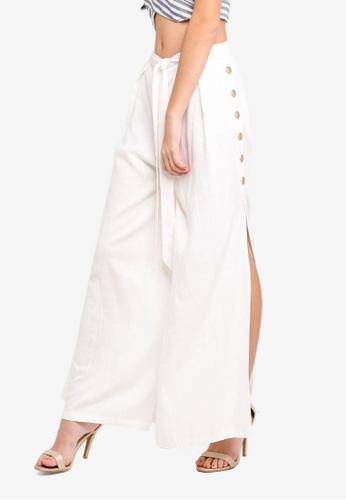 INDIKAH white Studded Maxi Pants With Shorts Lining C0877AA75BBF28GS_1