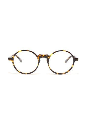 玳瑁色鏡框esprit 台北│復古圓框眼鏡│K1051-C2, 飾品配件, 眼鏡