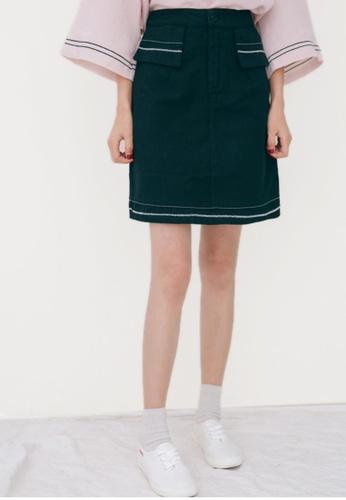 Shopsfashion black Ava Pencil Mini Skirt in Black 31C8FAABA707C2GS_1