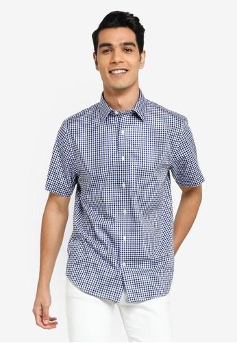 Banana Republic multi Printed Short Sleeve Shirt 4D97EAA5789C4DGS_1