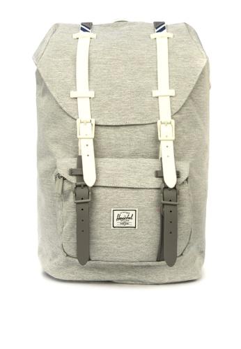 Herschel grey Little America Mid Backpack AE128ACB3FD921GS_1