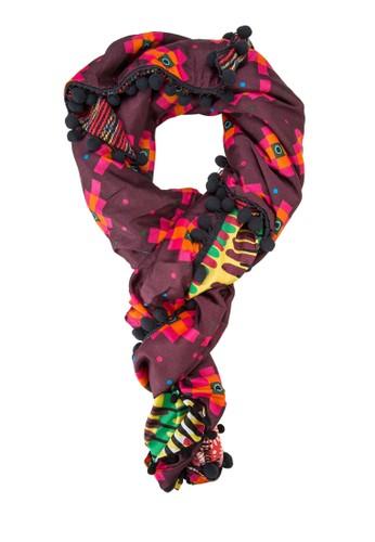 Cleo Foluard 幾何印花圍巾, 飾品esprit outlet hk配件, 飾品配件