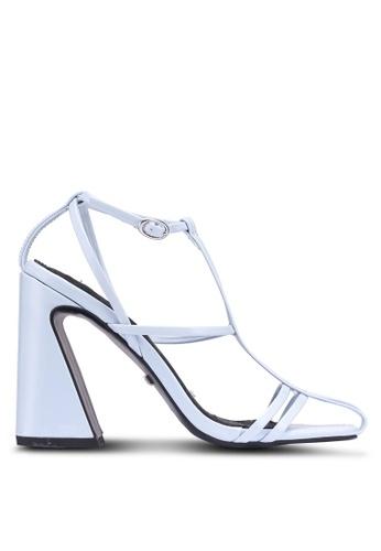367818eacf2 Buy TOPSHOP Blue Cage Block Heel Sandals Online on ZALORA Singapore