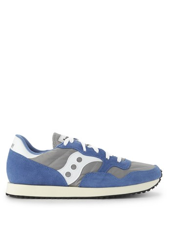 Saucony blue and grey Dxn Trainer Vintage 44E7FSH9BB9E8CGS_1
