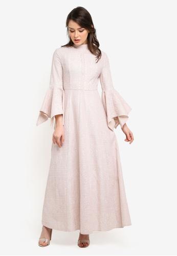 Zalia beige Lace Block Dress 5BDD6AA88CF32AGS_1