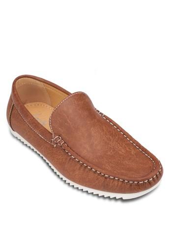 撞色仿皮樂福zalora 折扣碼鞋, 鞋, 船型鞋