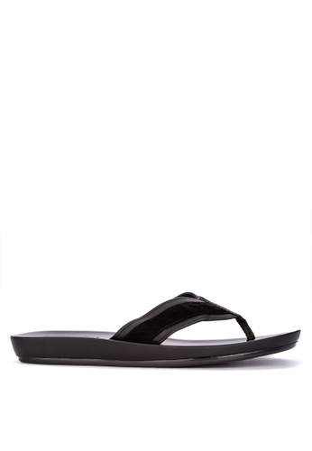 Frassino Collezione black Faux Leather Slippers FF565SH713B7DDGS_1