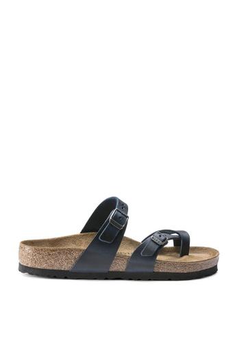 Birkenstock blue Mayari Oiled Leather Sandals BBE62SH019D099GS_1