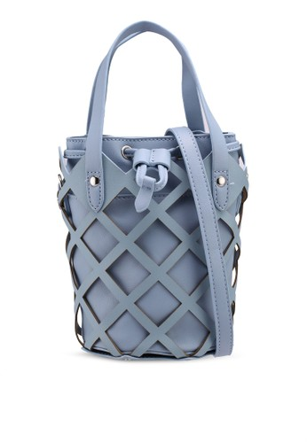 Nose blue Perforated Mini Bucket Bag 9553CACB5CF5C1GS_1