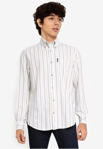 Ben Sherman multi Laundered Oxford Striped Shirt 50634AAFBF56B9GS_1