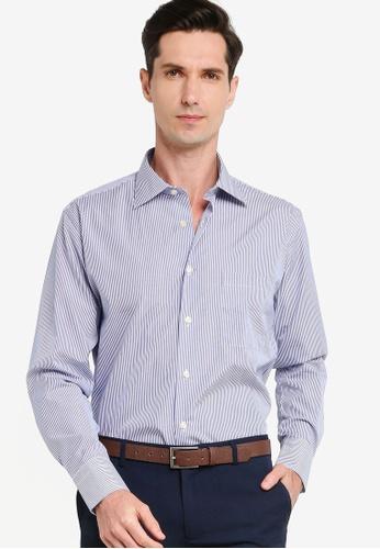 Sacoor Brothers blue Men's Classic Regular Fit Shirt DA6B7AA3585D8FGS_1