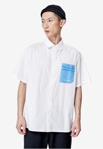 URBAN REVIVO white Men's Shirt 4FD58AA1298245GS_1