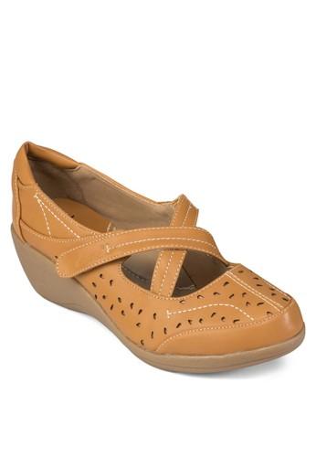 交esprit門市地址叉厚底休閒鞋, 女鞋, 楔形鞋