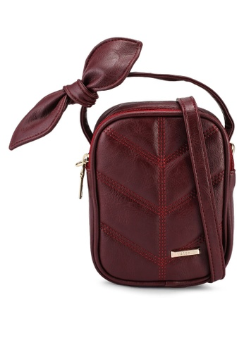 Verchini red Sling Bag With Bow 11AA3AC3D427D5GS_1