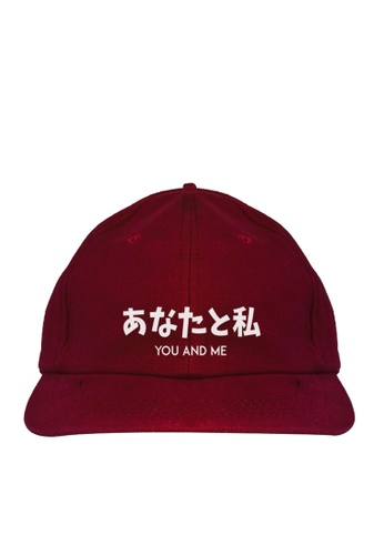 "HYPE MNL red Japanese Tee ""You and Me"" Baseball Cap 559C1AC463A89CGS_1"