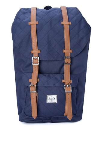 Herschel navy Little America Backpack HE958AC0JPXVPH_1