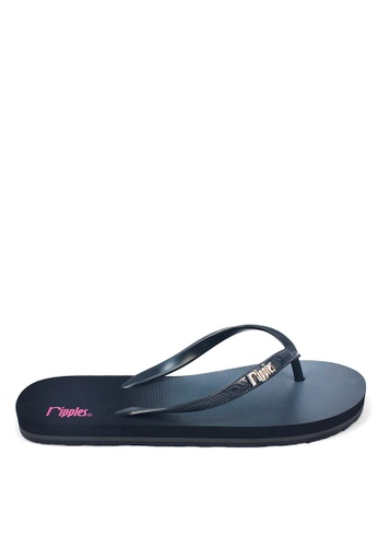 Ripples black and multi Gradient Ombre Flip Flops RI425SH0FVHNSG_1