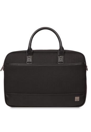 "knomo black Princeton 15.6"" Laptop Briefcase (Black) E6700AC8B4677BGS_1"