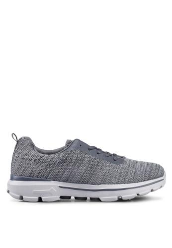 UniqTee grey Lightweight Lace Up Sport Sneakers C3E50SHA52DA21GS_1