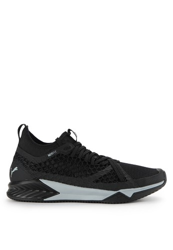 PUMA black Ignite Xt Netfit Shoes PU245SH0WDBSID_1