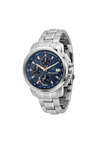 Maserati silver Maserati Successo Silver Metal Band Watches R8873645004 6883EAC4D862CCGS_1