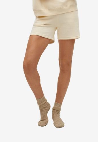 Mango beige Cotton-Blend Pyjamas Shorts CEFBBAAE43B181GS_1