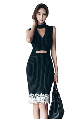 Sunnydaysweety black 2017 S/S Black Stripe Pattern vest One-Piece Dress UA040308 SU219AA38DVXSG_1