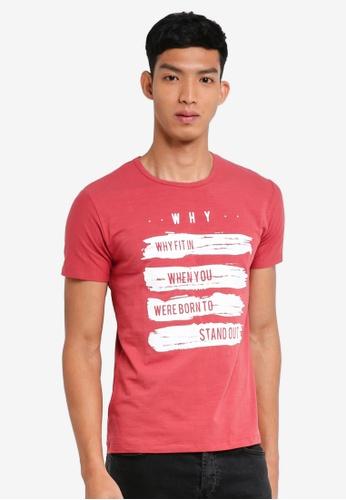 Fidelio 紅色 短袖印花T恤 43C6CAA7B127A9GS_1