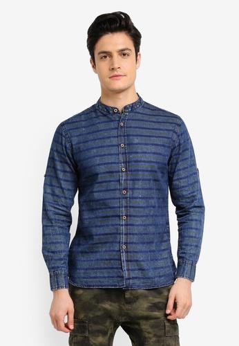 Fidelio blue Collar Vintage Long Sleeves Shirt F6477AA07526EFGS_1