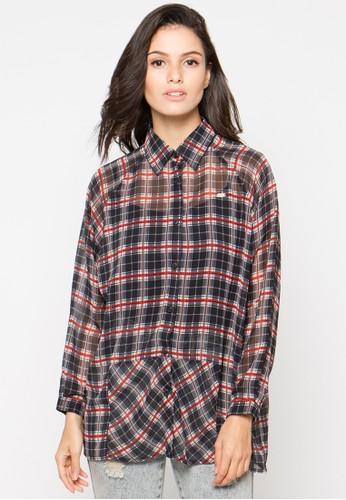 FAMO black Plain Long Shirt FA263AA81XUOID_1