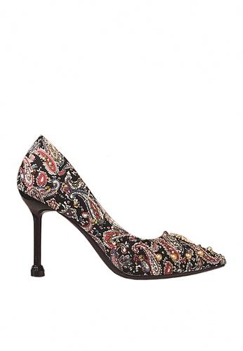 Twenty Eight Shoes 黑色 9cm 印花閃石晚裝及新娘鞋 VP16 C2A94SHFDBF0B2GS_1