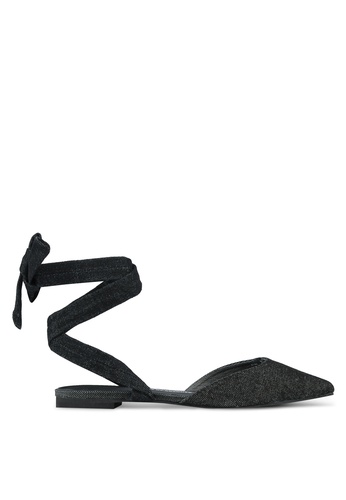 House of Avenues black Lace-Up Flats HO685SH0RRB0MY_1
