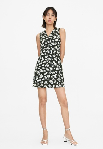 Pomelo black Daisy Sleeveless Button Up Dress - Black 73E51AA1D71938GS_1