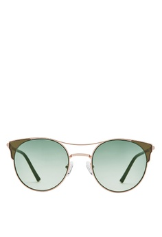 dc2b4081e74 Carin black and green and gold Anita C2 Cat Eye Sunglasses  0875FGL68CABF4GS 1