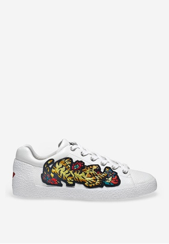 ASH white Niagara - White Embroidered Patch Sneakers 11AADSH58BA498GS_1